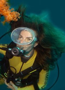 Royalty free stock footage female diver