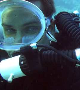 Dirk Specht diving with a rebreather for Bluewaterfascination